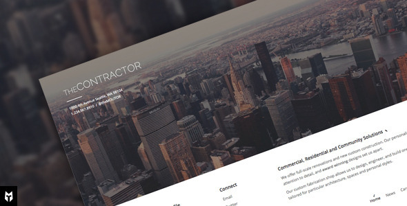 The Contractor 建筑公司 WordPress主题 [ 更新至 v1.0.8 ]
