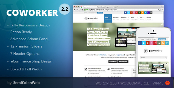 CoWorker 多用途企业模板 WordPress主题