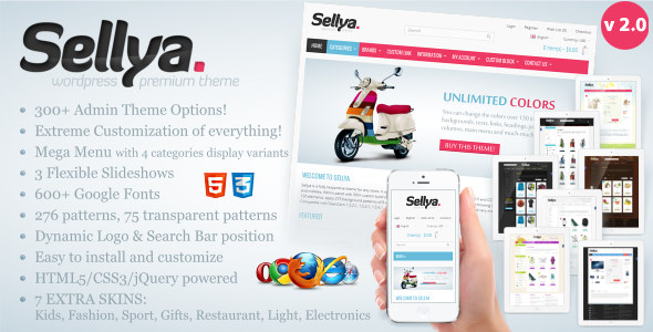 Sellya 响应WooCommerce商城 WordPress主题[更新至v1.9]