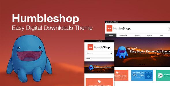 Humbleshop EDD易下载虚拟作品WordPress主题