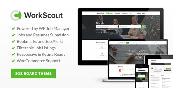 WorkScout 招聘求职工作发布网站WordPress主题 – v2.0.15