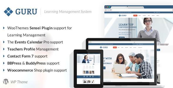 Guru 学习管理系统 WordPress主题[v1.1]