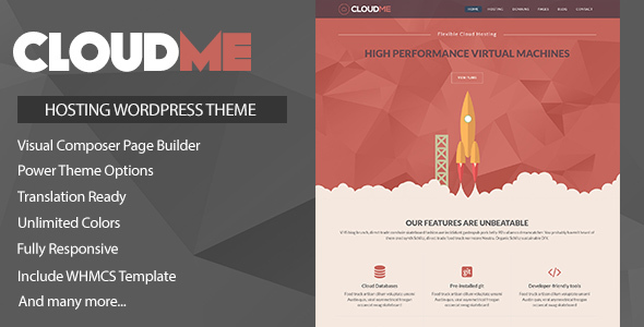 Cloudme Host 云主机空间WordPress主题 – v1.1.3