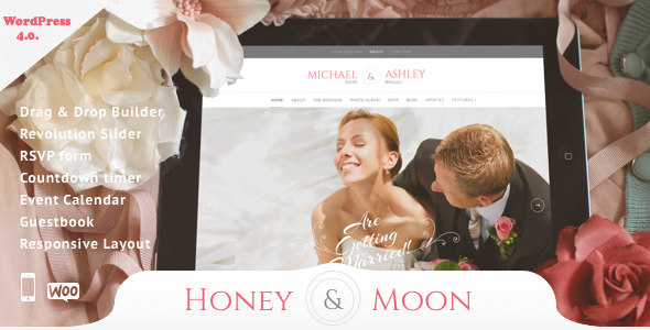 Honeymoon & Wedding 婚礼婚庆策划WordPress主题 – v1.6
