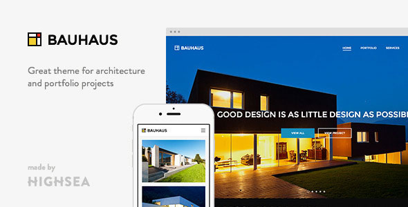 Bauhaus 建筑景观室内设计 WordPress主题
