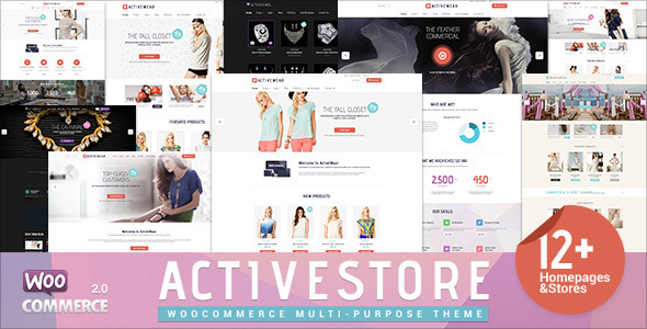ActiveWear WooCommerce购物商城 wordpress主题