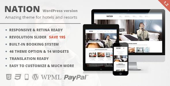 Nation Hotel 酒店 WordPress主题