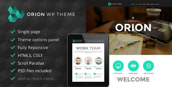 Orion 响应式单页 WordPress主题 – v1.4