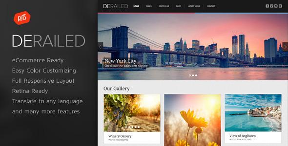 DeRailed 摄影/作品展示 WordPress主题[更新至v1.5]