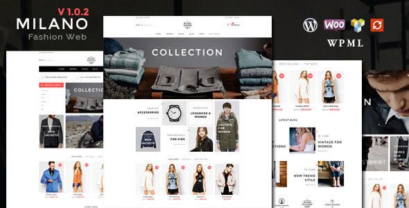 Milano 时尚的响应式 WooCommerce 电子商务主题