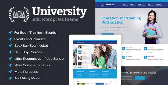 University 培训教育课程WordPress主题 – v2.1.4.0