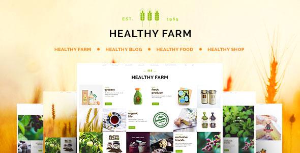 Healthy Farm 绿色有机食品农产品WordPress主题 – v2.5