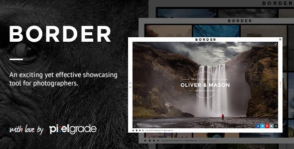 BORDER 摄影相册展示网站WordPress汉化主题 – v1.9.2