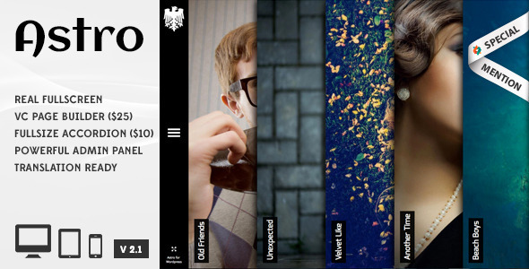 Astro 案例作品展示/摄影相册 WordPress主题