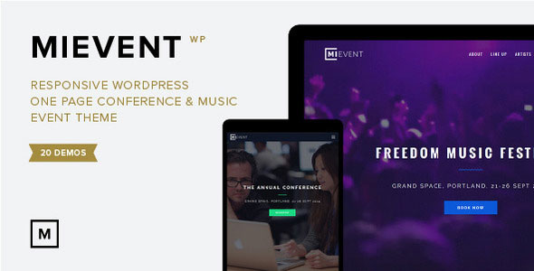 MiEvent 音乐/活动演唱会WordPress主题