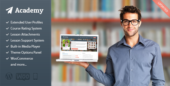Academy 在线教学/出售课程 WordPress汉化主题 – v2.19