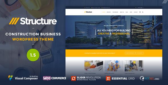 Structure 建筑公司 WordPress主题 [ 更新至v2.1 ]
