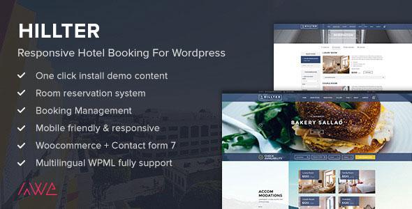 Hillter – 酒店预定WordPress主题 – v3.0.5