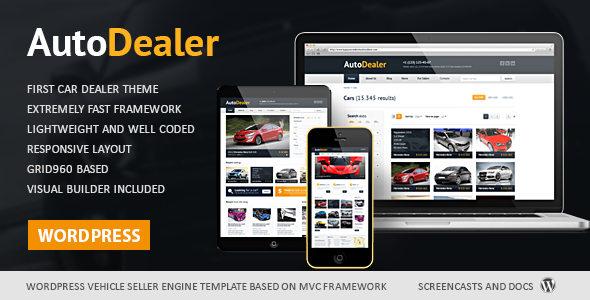 Auto Dealer 汽车交易 WordPress主题