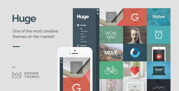 Huge 3D – 创意设计作品展示WordPress主题 – v1.6.2
