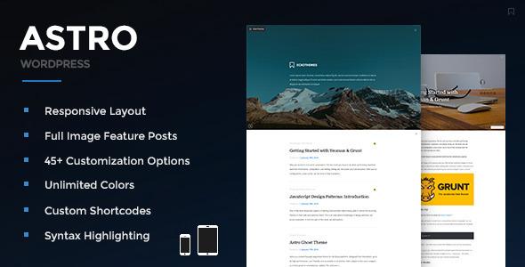 Astro 博客 WordPress主题 [ 更新至 v2.2.1 ]