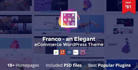 Franco – 优雅在线电商网站模板WordPress主题 – v1.3.5
