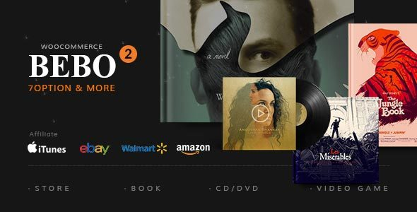 BEBO 电子书CD/DVD购物商城WordPress主题 – v2.1.2