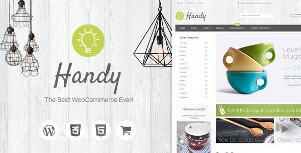 Handy WooCommerce购物 WordPress主题v1.2.2