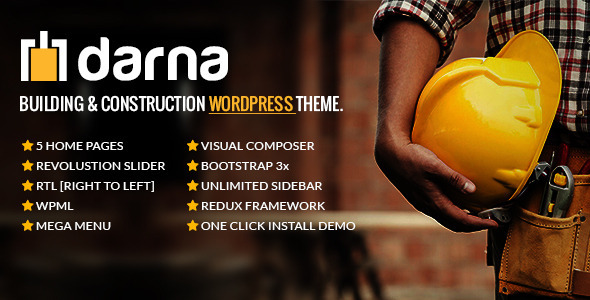 Darna – 建筑工程施工企业网站WordPress 主题 – v1.2.6