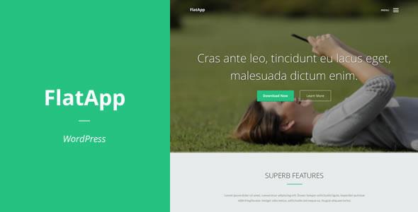 FlatApp App着陆页 WordPress主题