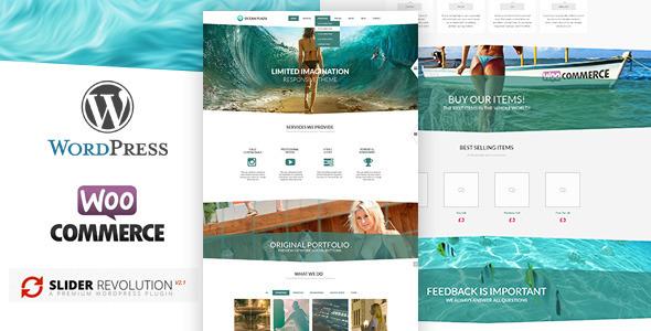 OceanPlaza 单页视差模板WordPress主题