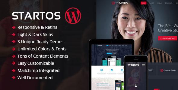 Startos 时尚APP着陆页WordPress主题 – v1.5.0