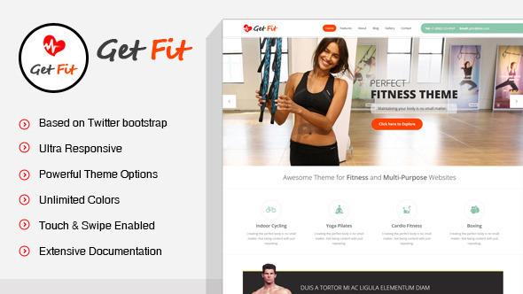 GetFit 体育健康健身馆健身 WordPress主题