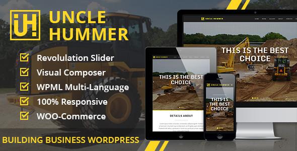 Uncle Hummer 建筑公司 wordpress主题[更新至v2.1.3]