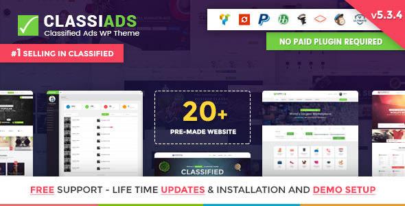 Classiads – 本地信息服务WordPress企业主题 – v5.8.5
