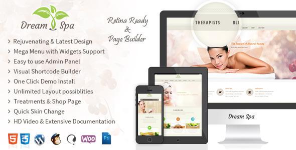 Dream Spa 沙龙 WordPress主题 – v3.0