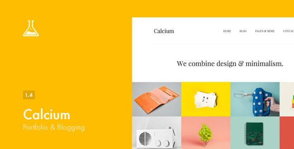Calcium – 极简作品展示/博客WordPress主题 – v1.4