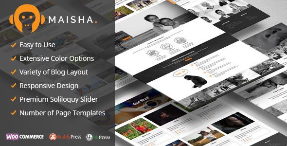 Maisha v1.6.9 – 公益慈善WordPress主题