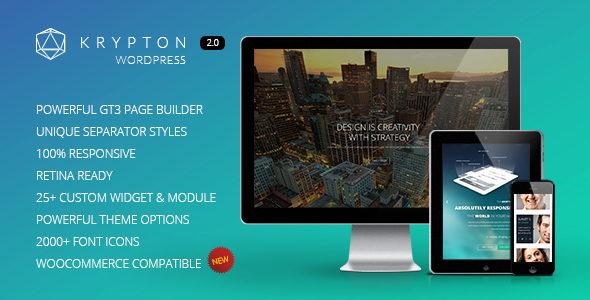 Krypton 摄影相册作品展示WordPress主题