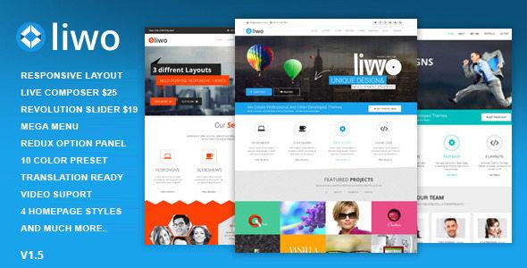 Liwo 多用途 WordPress企业主题