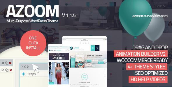 Azoom 多用途 WordPress主题 [更新至v1.1.5]
