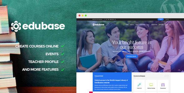 Edubase 课程 学习 活动 WordPress 主题 v1.4.1