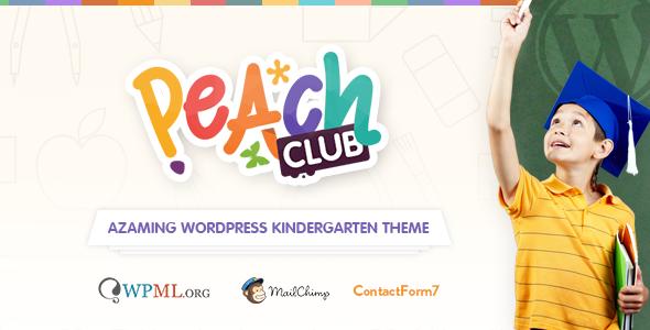 PeachClub 儿童幼儿园学校 WordPress主题