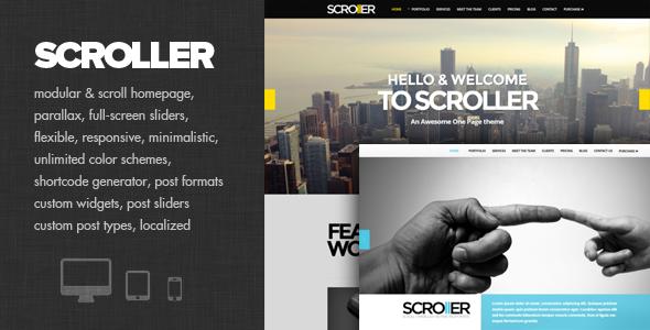 Scroller 单页视差 WordPress主题 – v2.0