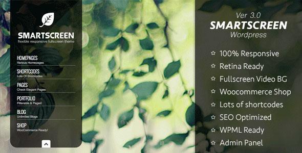 SmartScreen 全屏自适应 WordPress主题 [v3.0.8]