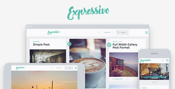 Expressivo 瀑布流博客 WordPress主题 [v1.1]
