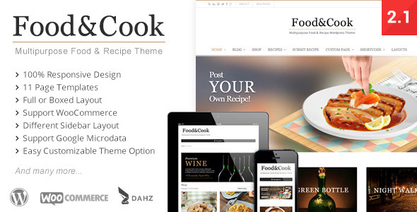 Food & Cook – 餐饮餐厅WordPress主题 – v2.6.7