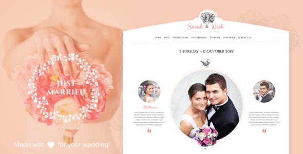 The Wedding Day v18 婚庆 WordPress主题