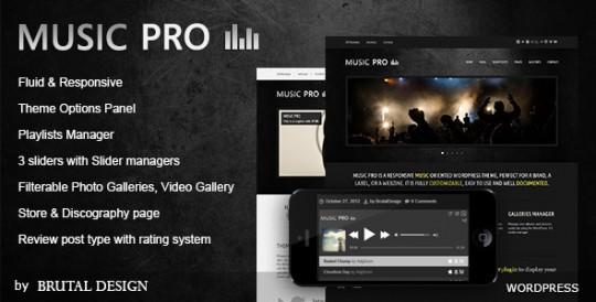 Music Pro 音乐网站模板WordPress主题 – v3.3.1