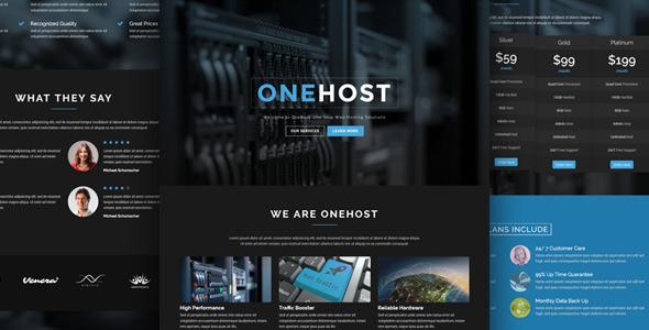 Onehost 主机IDC服务商WordPress主题